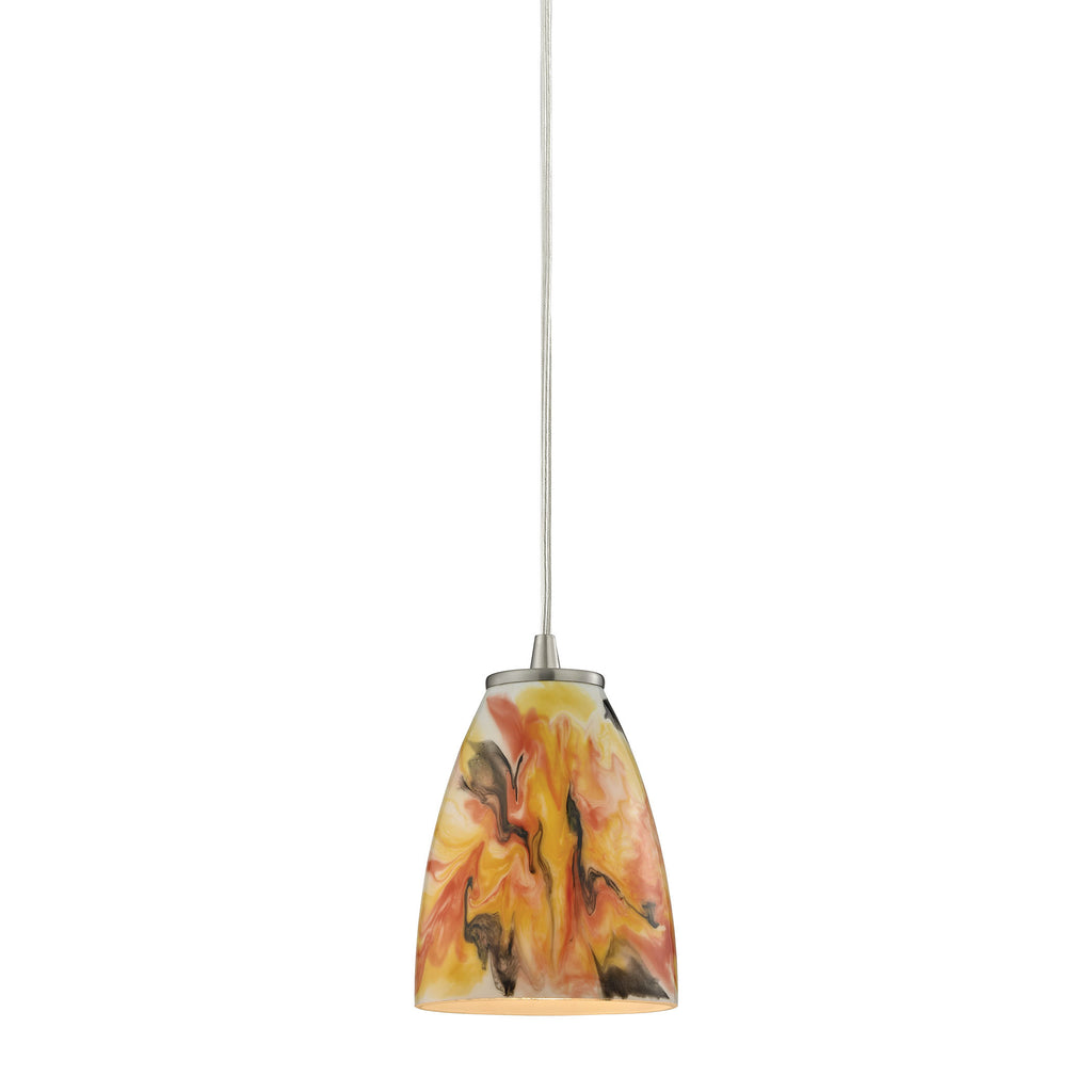 Abstractions 1 Light Pendant In Satin Nickel 10460/1SF by Elk Lighting