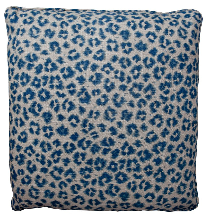 Leopard Navy Decorative Throw Pillow by Stuart Lawrence