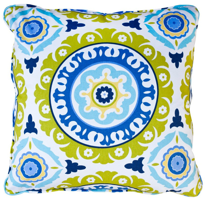 Solis Aqua Decorative Throw Pillow by Stuart Lawrence