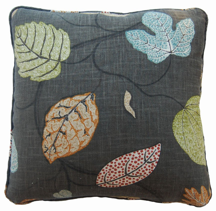 Leaves Charcoal Decorative Throw Pillow by Stuart Lawrence