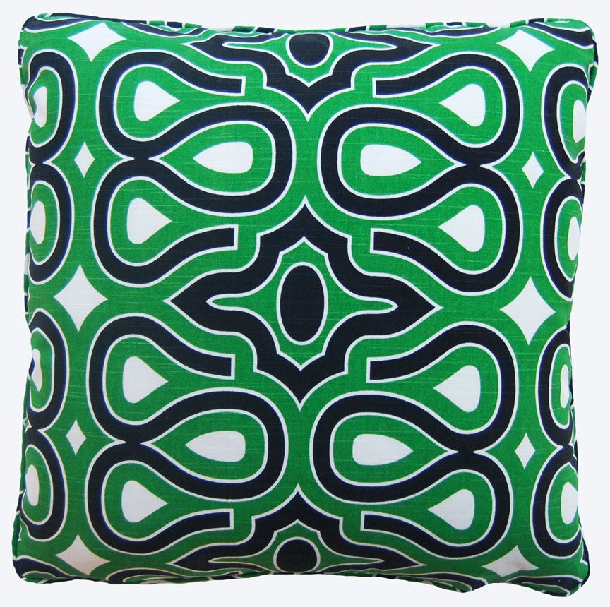 Swirl Green Decorative Throw Pillow by Stuart Lawrence