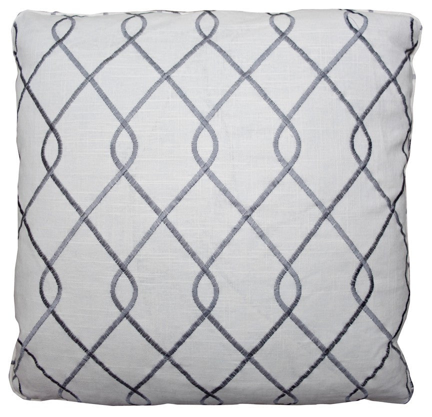 Brooke Grey Decorative Throw Pillow by Stuart Lawrence