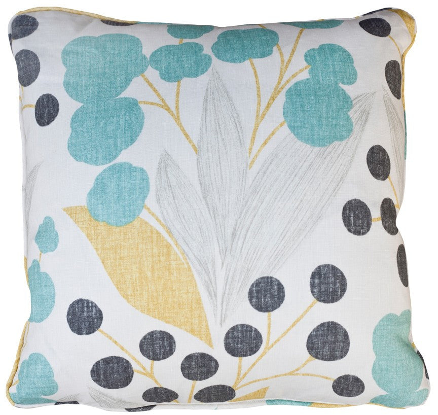 Poppy Aqua Decorative Throw Pillow by Stuart Lawrence