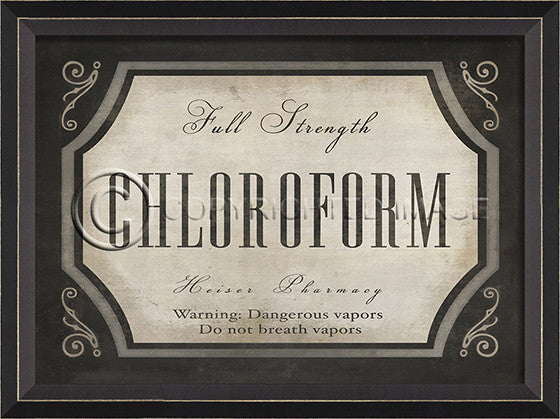 10620 BC Chloroform Apothecary Label Framed Art