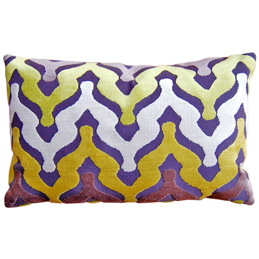 Waves Citron Decorative Throw Pillow by Stuart Lawrence