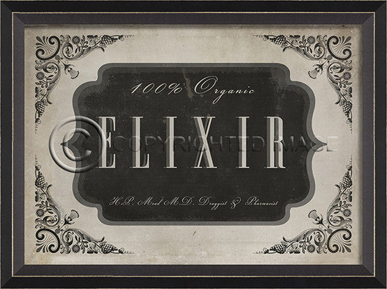 10622 BC Elixir Apothecary Label Framed Art