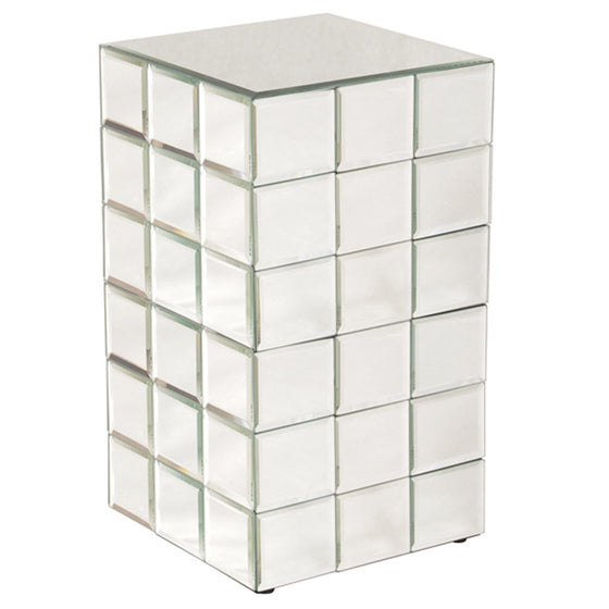 Antares Medium Mirrored Puzzle Cube Pedestal 11044 by Howard Elliott