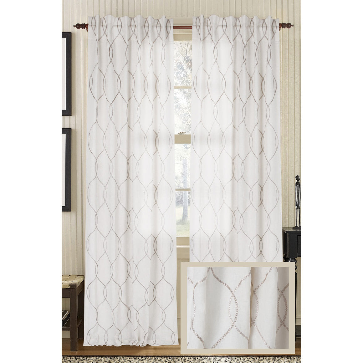 Amore Linen Drapes - Ivory