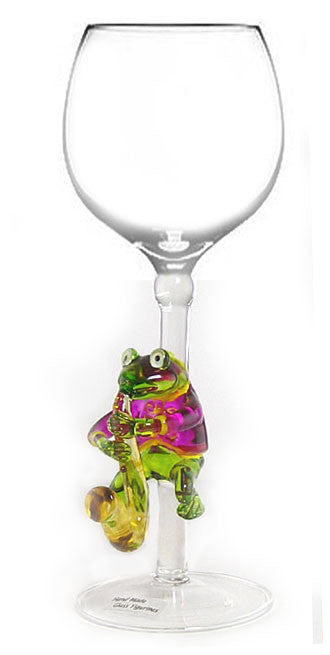 Goblet with Frog Playing Saxophone - W161
