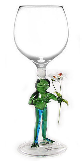 Goblet with Frog with Flowers - W206