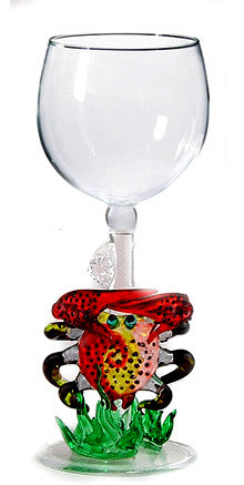 Goblet with Crab and Coral - W273