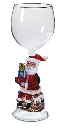 Goblet with Santa and Chimney - W286