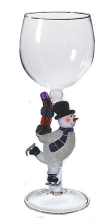 Goblet with Snowman and Present - W288