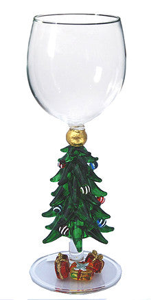 Goblet with Christmas Tree and Presents - W290