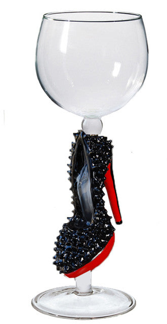 Goblet with Black Shoe with Red Sole - W320