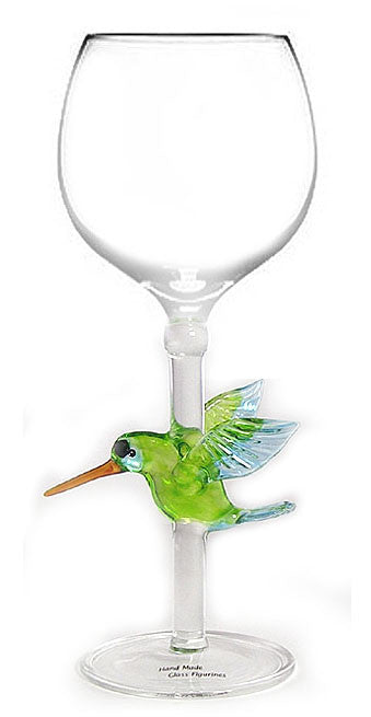 Goblet with Hummingbird - W106