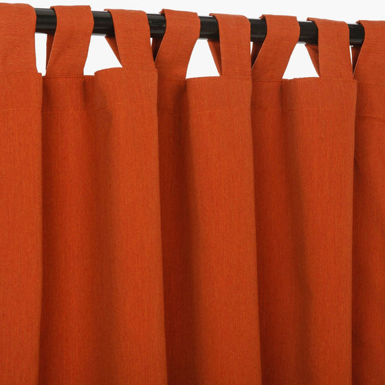 Sunbrella Outdoor Curtain With Tabs - Canvas Brick