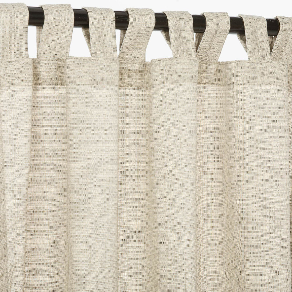 Sunbrella Outdoor Curtain With Tabs - Linen Silver