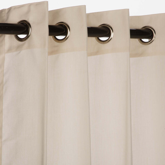Sunbrella Outdoor Curtain With Nickel Grommets - Spectrum Eggshell