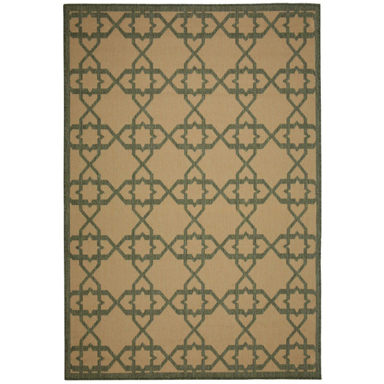 Antebellum Green Outdoor Porch Rug