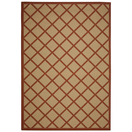 Hammock Coast Terra Cotta Outdoor Porch Rug