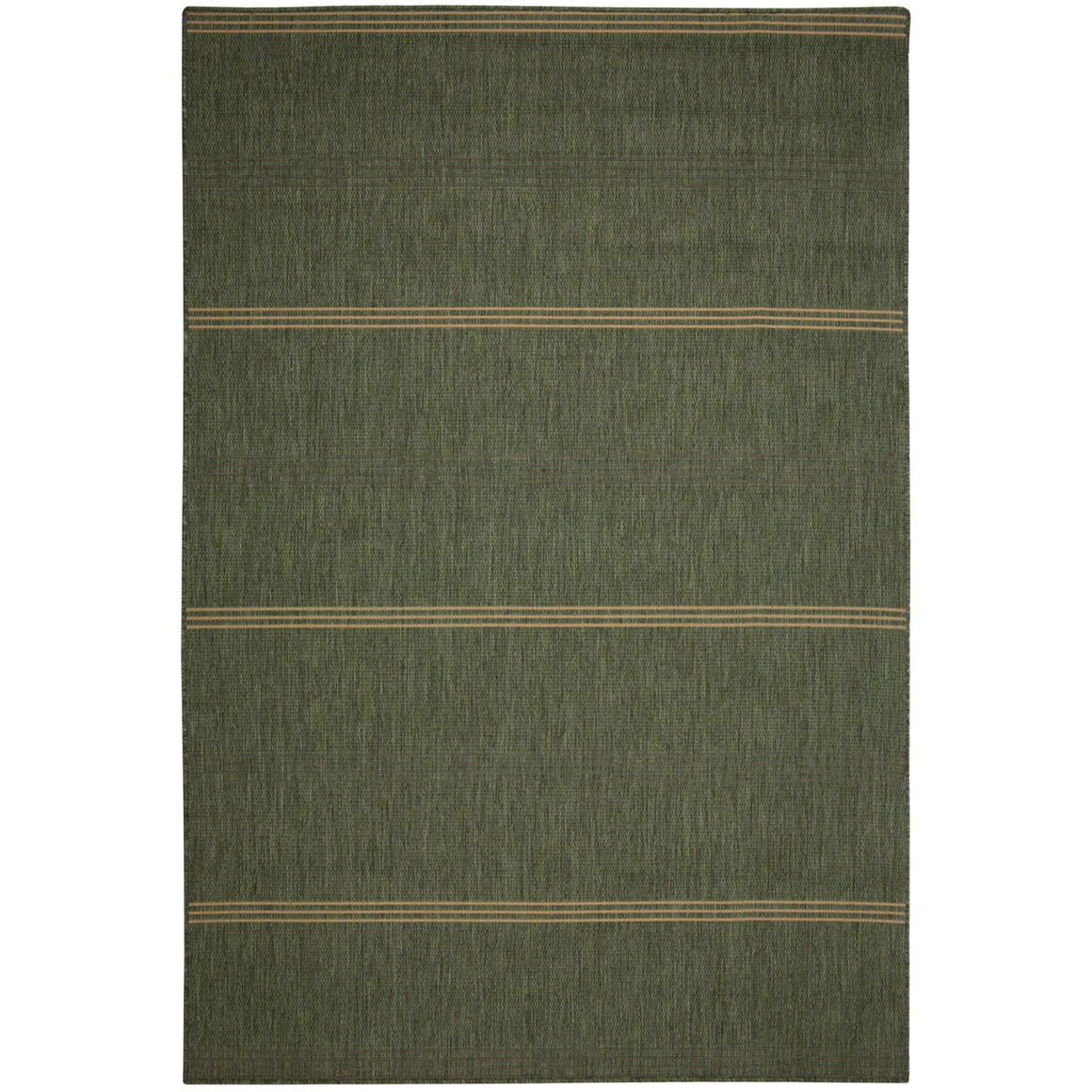 Inlet Stripe Green Outdoor Porch Rug
