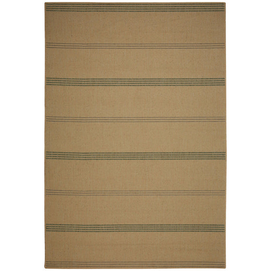 Inlet Stripe Natural Outdoor Porch Rug
