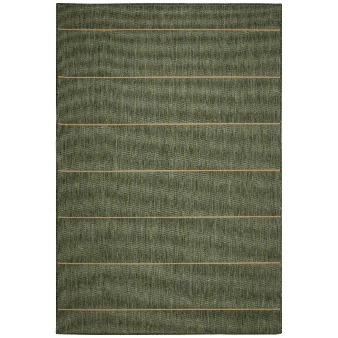Palmetto Stripe Green Outdoor Porch Rug