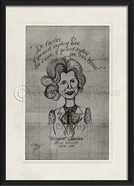 11603 EB Margaret Thatcher Framed Art