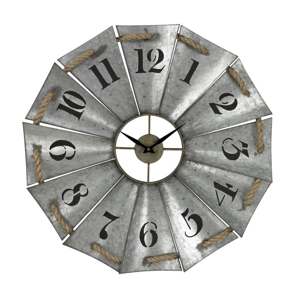 Aluminum And Rope Wall Clock by Sterling