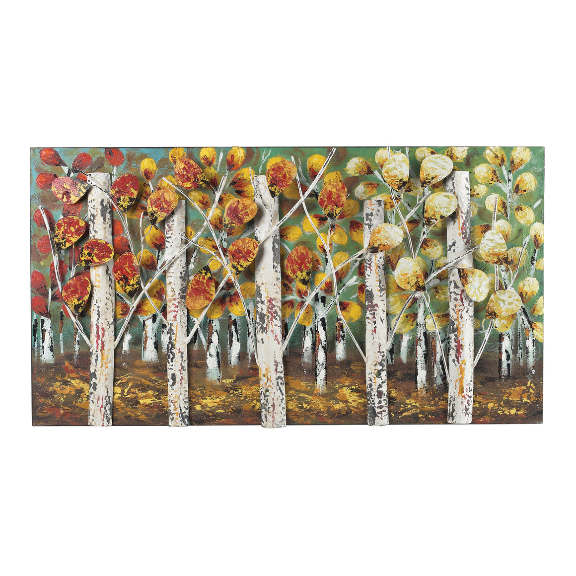 Autumn Birch-Autumn Birch Metal Wall Decor by Sterling
