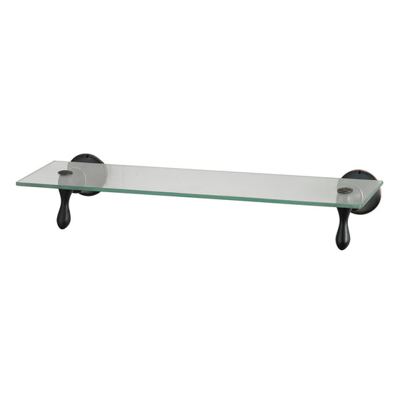 Glass Shelf With Oil Rubbed Bronze Accents 131-001 by Sterling