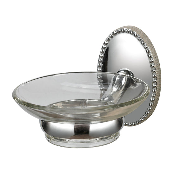 Soap Dish Holder In Chrome/ Glass 131-015 by Sterling