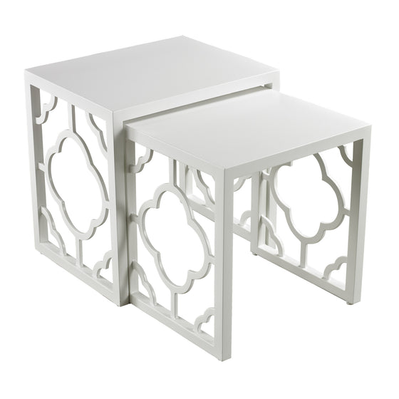 Gloss White Nesting Table by Sterling