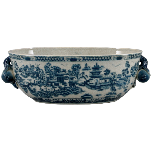 Oval Basin - Blue Willow by Oriental Danny