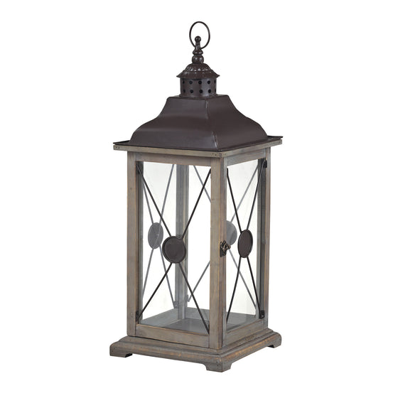 Edlington-Large Wooden Lantern by Sterling