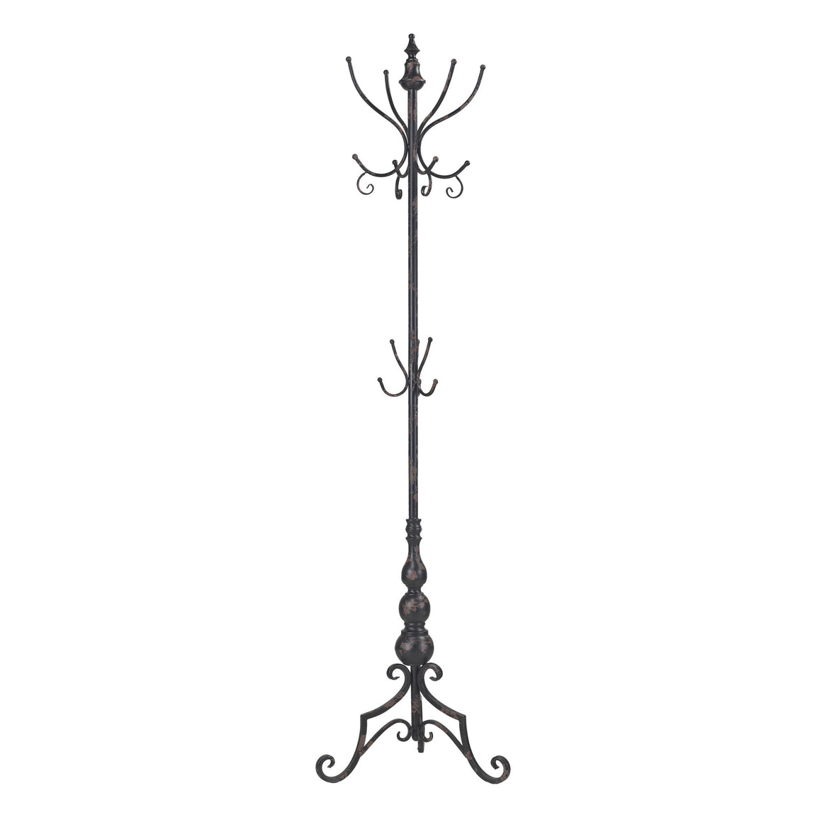 Stocks Bridge Coat Rack In Distressed Black by Sterling