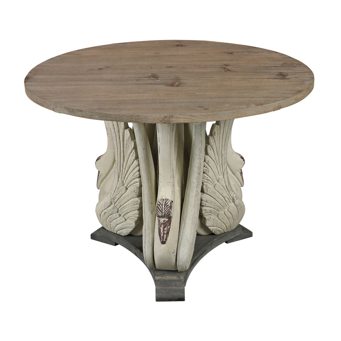 Baywood-Swan Accent Table With Wooden Top 138-086 by Sterling