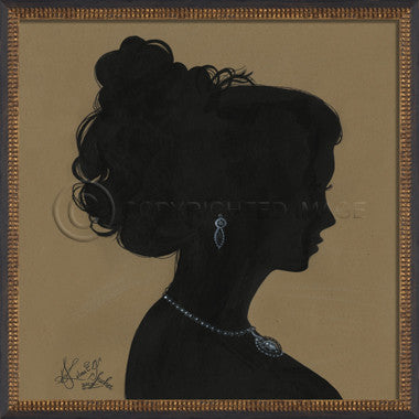 14091 WC Lady Silhouette 02 Framed Art