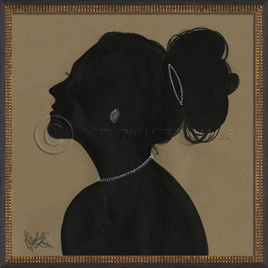 14092 WC Lady Silhouette 03 Framed Art