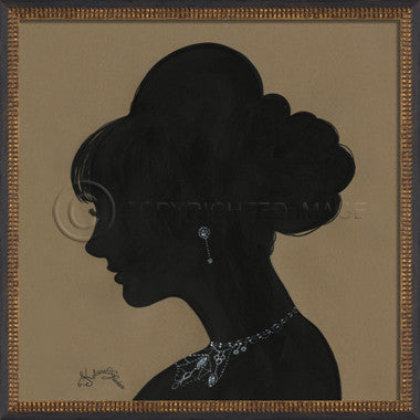 14093 WC Lady Silhouette 04 Framed Art