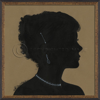 14095 WC Lady Silhouette 06 Framed Art