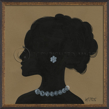 14097 WC Lady Silhouette 08 Framed Art