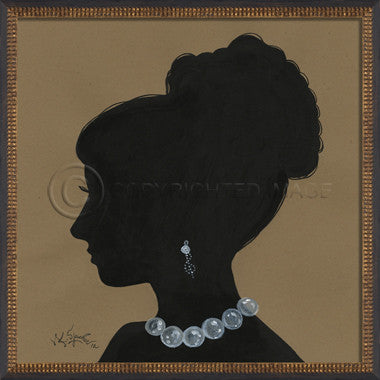 14098 WC Lady Silhouette 09 Framed Art