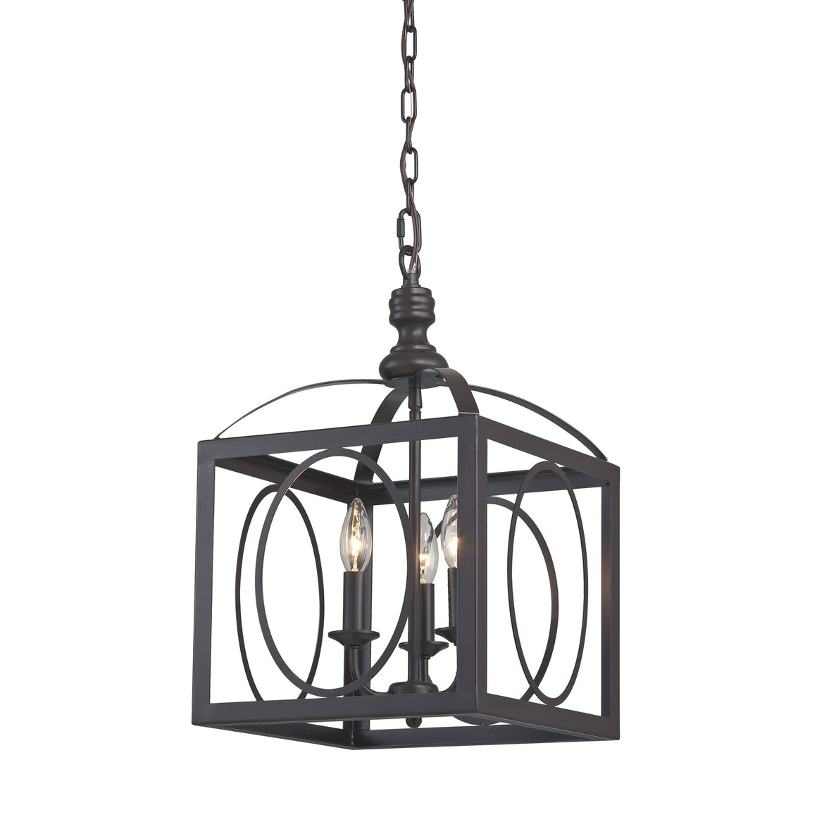 Ailsa-Ringed 3 Light Cluster Lantern by Sterling