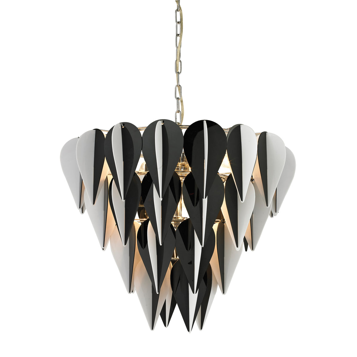 Ashreigh-Mod Inspired Black And White 3 Tier Pendant by Sterling