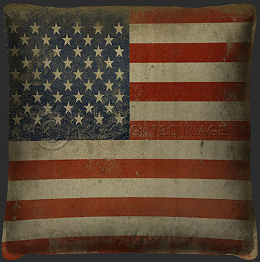 15036 American Flag Pillow