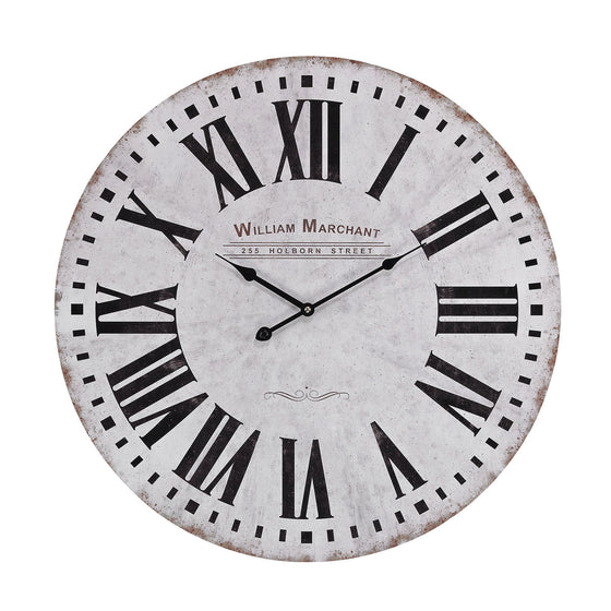 Aged White Wall Clock 171-005 by Sterling