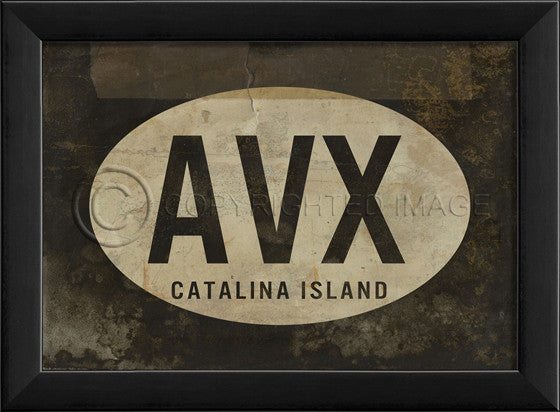 17914 EB AVX Catalina Island Airport Code Framed Art