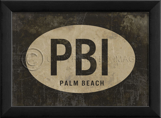 17925 EB PBI Palm Beach Airport Code Framed Art